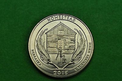 2015-S   BU Mint State (Homestead National Monument) US National Park Quarter
