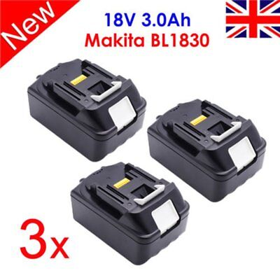 3 X 18V 3.0Ah Bl1830 Bl1815 Lxt Lithium Ion Battery For Makita Cordless Mp