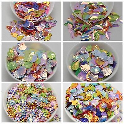 1000 Mixed Color  Shimmer Sequins Paillettes sewing Wed Pick Your Shape