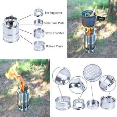 Outdoor Hiking Cooking Picnic  Wood Stove Backpacking Burning Camping Burner