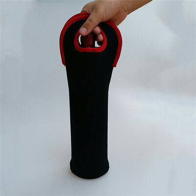 Wine Champagne Bottle Cooling Holder Gel Carrier Chilling 36x8.5cm Black