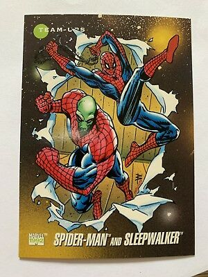 1992 Marvel X-Men Superheroes Card #95 Spider-Man And Sleepwalker