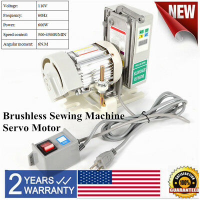 Industrial Sewing Machine Motor Brushless Servo Motor Unique Tie Bar Design 600W