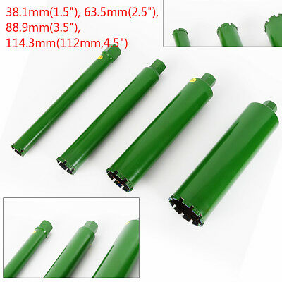 "Combo Wet Diamond Core Drill Bit for Concrete-Premium Green Series 1.73""- 4.5"""