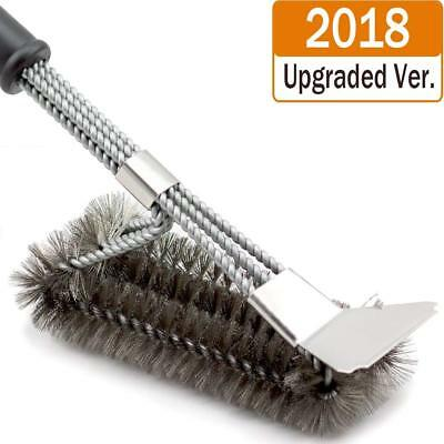 [2018 Upgraded]BBQ Grill Brush and Scraper, 18 Inches 3 in 1 Barbecue Cleanin...