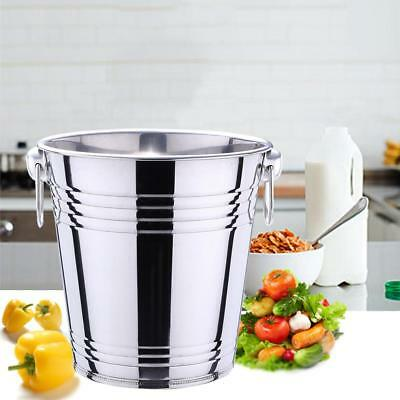 3L/5L Large Stainless Steel Ice Bucket Beer Wine Cooler Champagne Party Bar UK