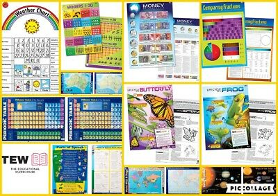 Educational Posters Charts Teacher Resource Maths Literacy Science Times Tables