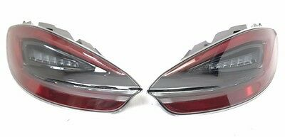 Pair Of New Genuine Porsche 981 Boxster Cayman Dark Tinted Rear Light Set