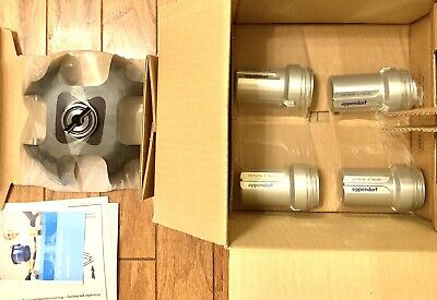 New Eppendorf 022639048 4-Place Swing Bucket Rotor A-4-38 w/ 85mL Round Buckets