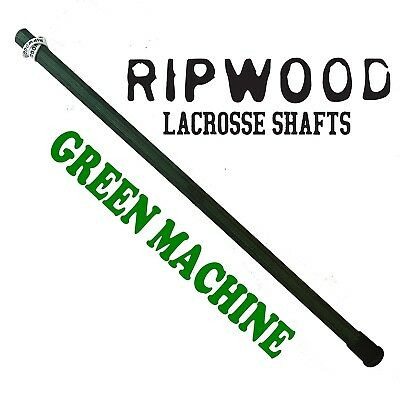 (Green) - RipWood Solid Wood (Ash) Attack Lacrosse Shaft / Stick (made by hand