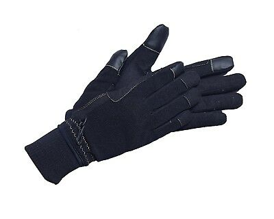 (2X-Small, Black) - Riders Trend Unisex Breathable Touch Screen Horse Winter
