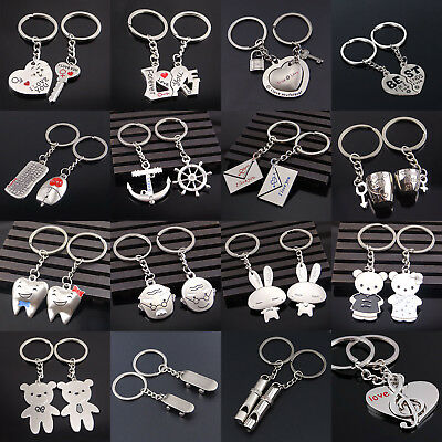 I Love You Cupid Heart Couples Keychain Metal Key Chain Keyrings Lovers Gift