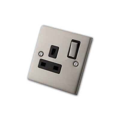 1 Gang Stainless Steel Switched Electrical Socket (13 Amp)