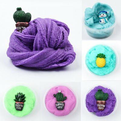 Fluffy Floam Slime Scented Stress Relief Kids Christmas Sludge Toy Gift Colorful