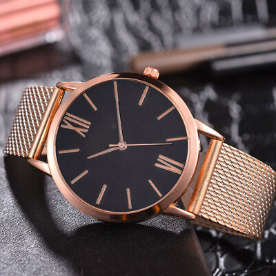 Fashion Women's Casual Quartz Silicone Strap Band Watch Analog Wrist Watch