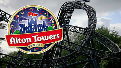 Alton Towers/ Thorpe Park 2 for 1 Entry Voucher free and fast p&p