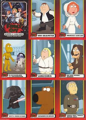 Star Wars - Family Guy - ANH Episode IV - Complete Card SET (50) - NM