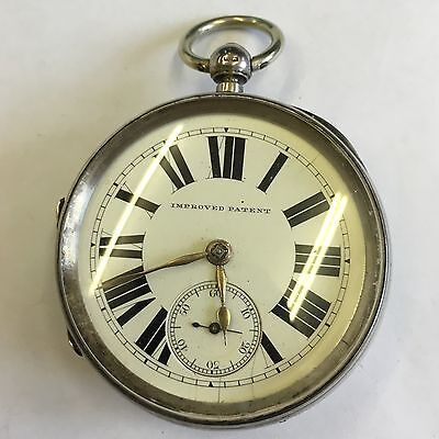 Antique Solid Silver Fusee Pocket Watch Olswang Sunderland Working 1891 Large