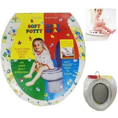 Kids Children Art Printed Soft Padded Baby Toddler Potty Training Toilet Seat