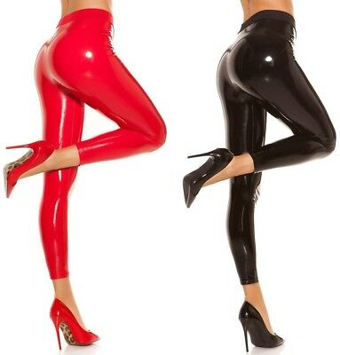 HOT !! Wetlook-Leggings * Gr. S - XL * Damen Clubwear Leggins Hose