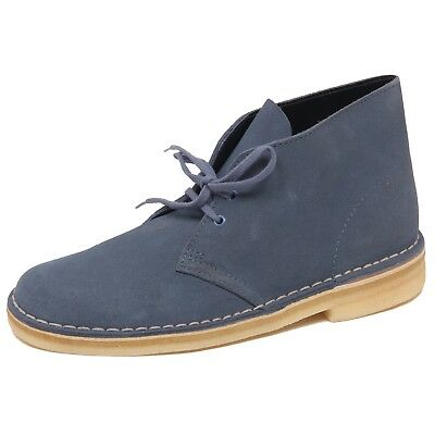 F1740 polacchino uomo blue denim CLARKS DESERT BOOT scarpe shoe man FIT F bb4d1e2e3e6
