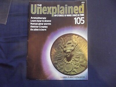 THE UNEXPLAINED MAGAZINE.# 105,ALISTER CROWLEY 5 Page ARTICLE ALIENS,UFO'S,ETC