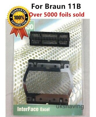 Shaver Foil+Cutter Replacement Compatible with Braun 11B 110 120 130 140 150