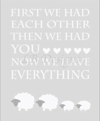 Gender Neutral Twin Sheep Nursery Prints, Sheep Family Decor, Twin Baby Shower