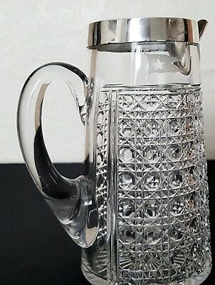 Original White Star Line acid etched HM silver jug. Olympic & Titanic interest.