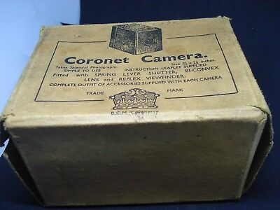 Rare Dry Plate Box Camera By Coronet  With Original Box