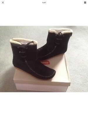 02 Boot Original 9 Desert Clarks Suede Mens Black £60 Size Shoes avwFq4
