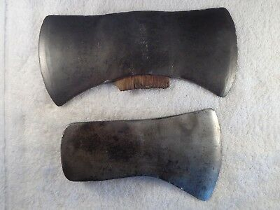 2 old Antique or Vintage Axes Doube & single Bit 1 HOMESTEAD Collectible Tools
