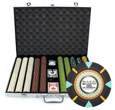 1000 Count Claysmith 'The Mint' Poker Chips Set in Aluminum Case