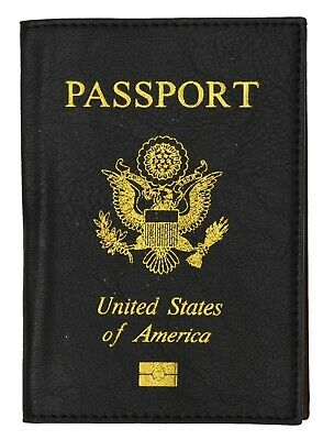 Travel Leather USA Passport Organizer Holder Card Protector Cover Wallet Black!!