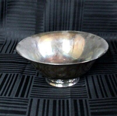 Vtg Towle Silver Plated Antique Classic Serving Side Dish Large 9 in Bowl Dish