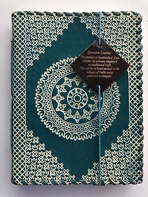 Handcrafted Genuine Turquoise Leather Journal Note Book 6x8 Lined Paper