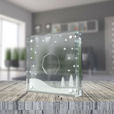 50p Perspex Display, ideal for The Snowman 2018 50p Coin - Silver Proof Style