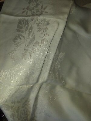 VINTAGE WHITE DAMASK TABLECLOTH Rectangle 56 x 85 with MATCHING NAPKINS