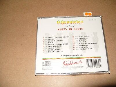Misty In Roots Chronicles - The Best of Misty in Roots cd 1994 New & Sealed