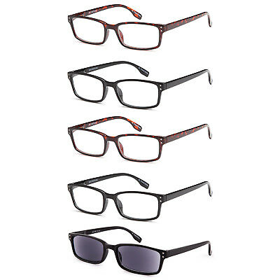 5dbbe11ce98a GAMMA RAY READERS 5 Pairs Unisex Readers with Sun Readers Reading Glasses