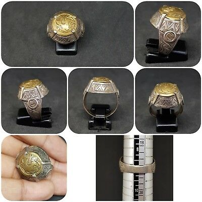 Unique Roman silver and brass very beautiful old Ring # R2