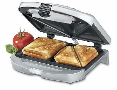 Electric Dual Sandwich Grill Deep Non Stick Toast Maker Omelets French Toaster