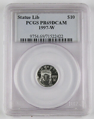 1997 W $10 1/10 Oz PLATINUM American EAGLE Proof Coin PCGS PR69 Deep Cameo