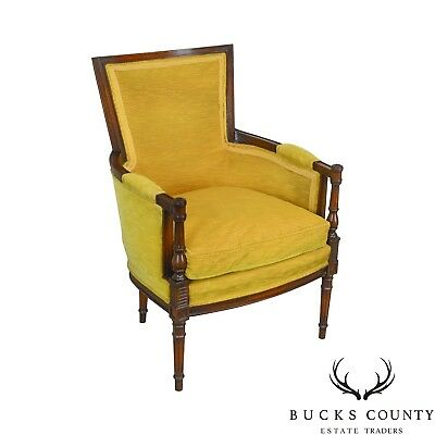 Hickory Chair Co. French Directoire Style Vintage Bergere Chair