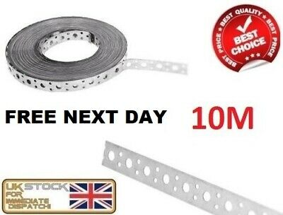 Engineers Fixing Band Steel Metal Punched Perforated Strip Strap 10m x 20 x 1mm