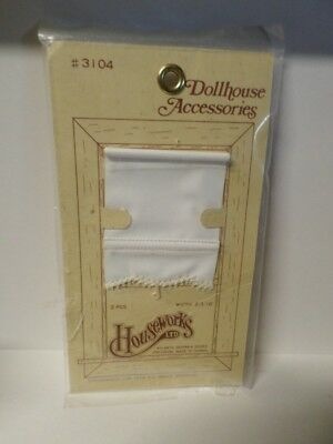 Dollhouse Minaiture Window Shade White 1:12 Pkg of (1)