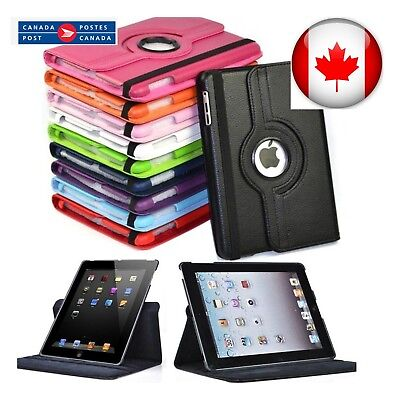 For iPad 5 6 Air 1 2  Mini 1, 2, 3, 4 Pro 360 Rotating Leather Stand Case Cover