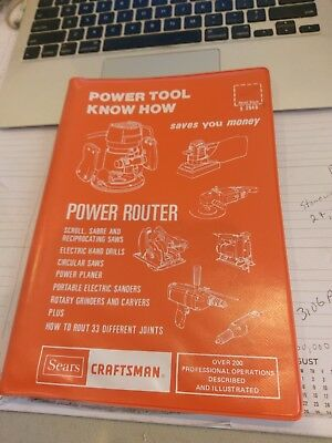 Sears Craftsman Power Tool Know How Manual #9-2949 -Power Router  1977 Edition