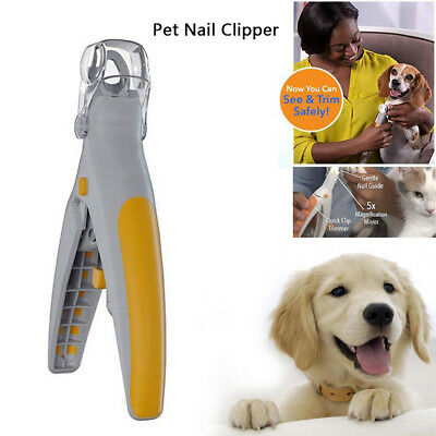 Led Light Magnifier Pet Nail Trimmer Dog Puppy Cat Claw Clipper Grinder Tool Pou