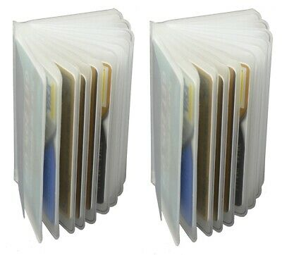 WALLET INSERT SET OF 2 Clear & Plastic 12 PAGES CARD PICTURE HOLDER TRIFOLD NEW